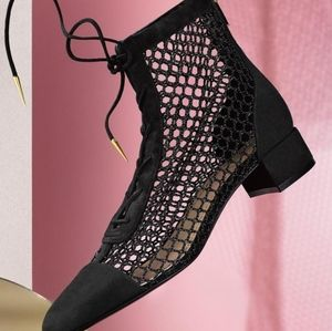 DIOR ✨Naughtily✨ Leather Mesh Suede Ankle Boots 38